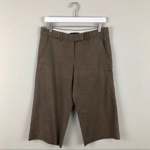 Elie Tahari Linen Culotte Pants